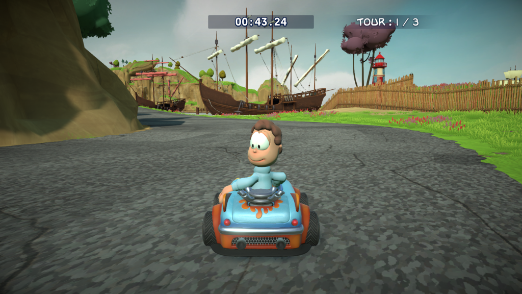 Garfield Kart Furious Racing voor Nintento switch review 1