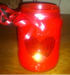 Last minute DIY Valentijnscadeau romantische theelichthouder