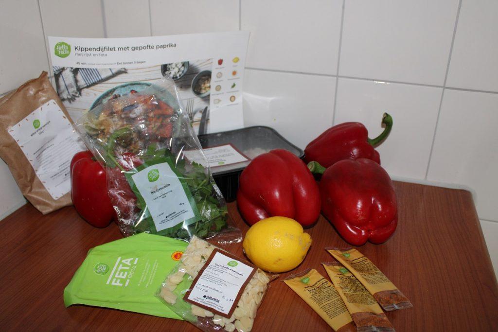 De maaltijdbox een oplossing voor als je thuis moet blijven kipdijfilet paprika