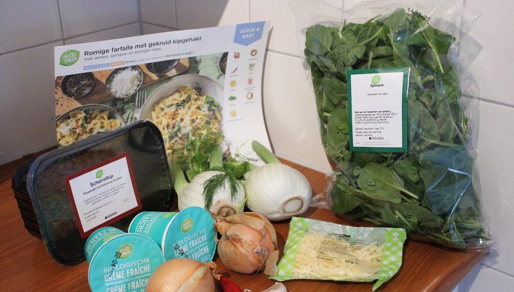 De maaltijdbox een oplossing voor als je thuis moet blijven romige kip farfalle