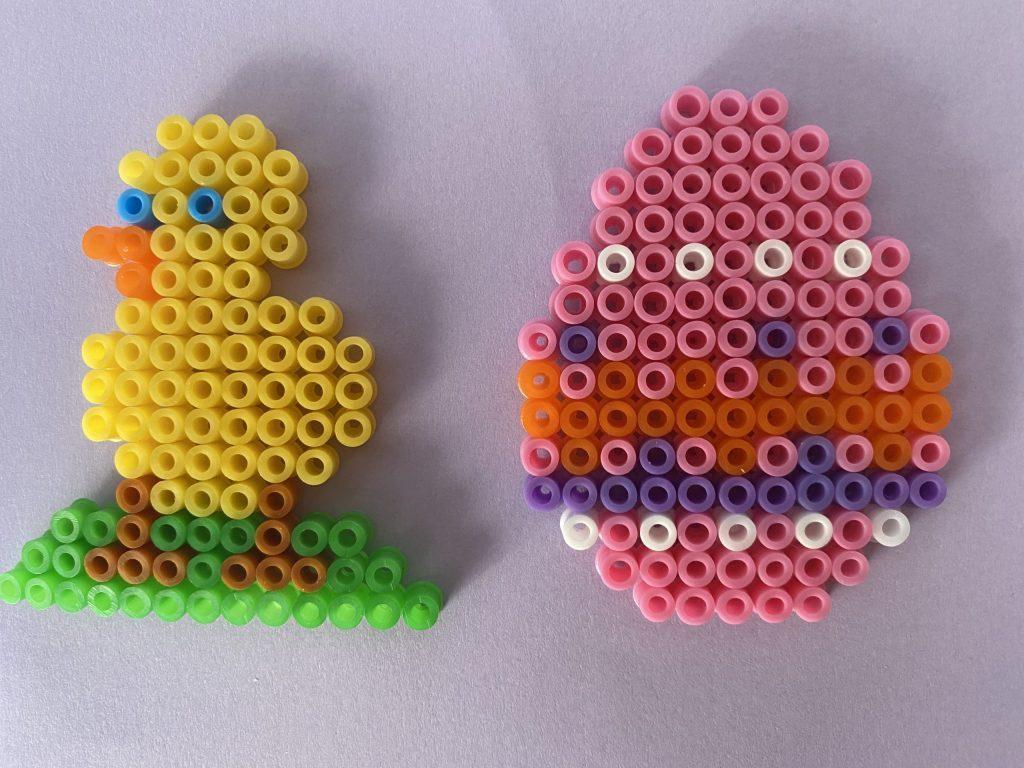 Pasen DIY en Paasknutsels voor kinderen strijkkralen Pasen