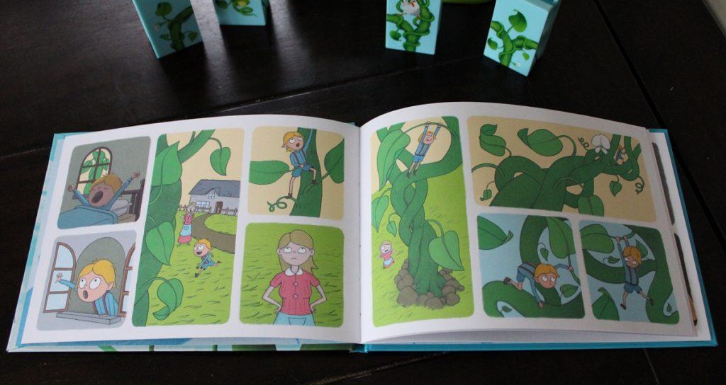 Cadeautip voor kleuters Jaak en de Bonenstaak puzzelgame prentenboekje