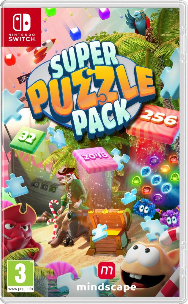 Gametip voor kinderen Super Puzzle Pack voor de Switch voorkant