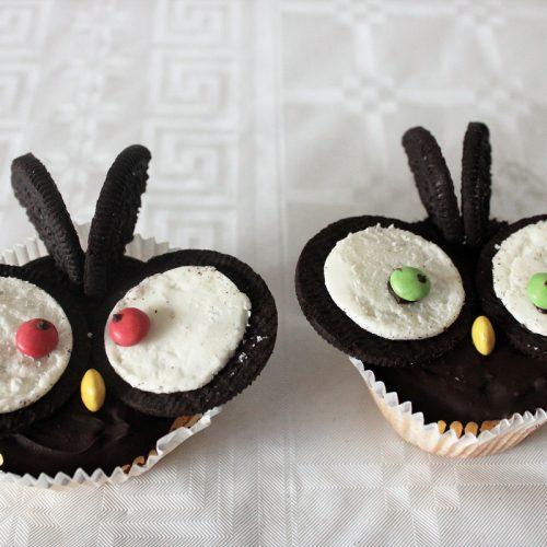 Recept uilen oreo cupcakes 1