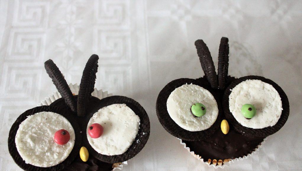 Recept uilen oreo cupcakes